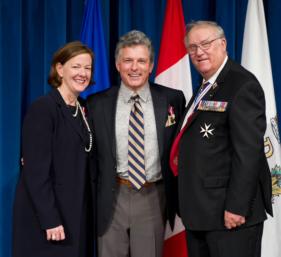 Danny, receiving the 2012 Queens 60th Jubilee Medal
